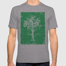 Green Tree Mens Fitted Tee Athletic Grey SMALL