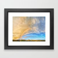 Mid May Afternoon Over Cave Creek Framed Art Print