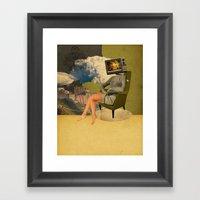 T.V Buddha Framed Art Print