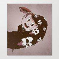 Head Spill Canvas Print