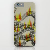 rattlesnake on fire! iPhone 6 Slim Case