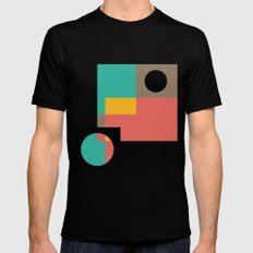 Geometric Crazy 1 Mens Fitted Tee SMALL Black
