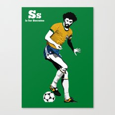 S is for Socrates Canvas Print