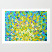 SPLASH 2 - Bright Bold O… Art Print