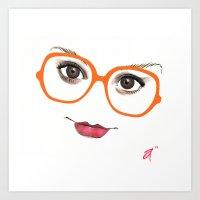 Hipster Eyes 2 Art Print