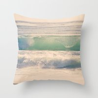 Green Spray Throw Pillow