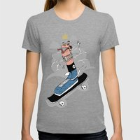 Sk8r foot Womens Fitted Tee Tri-Grey SMALL