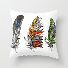 Winter Autumn Spring Throw Pillow