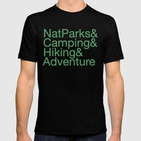 National Parks & Hiking & Camping & Adventure Mens Fitted Tee Black SMALL