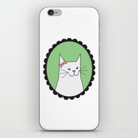 White Kitty iPhone & iPod Skin