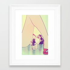 Girl With Gun 2 Framed Art Print