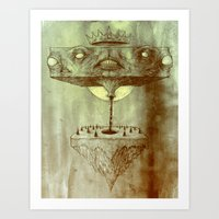 Block Squirt in the Forest Art Print