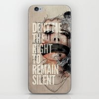 Deny me the right to remain silent. iPhone & iPod Skin