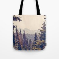 Mountains Through The Tr… Tote Bag