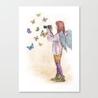 Photog Angel Canvas Print
