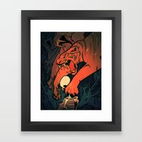 Weretiger - Hot Framed Art Print