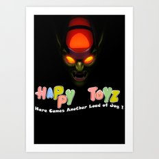 Happy Toyz (Alternate) Art Print