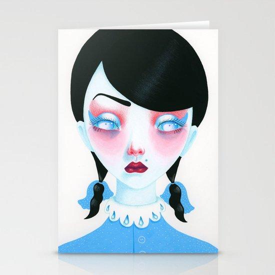 Vampire Girl Stationery Card