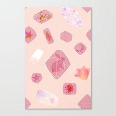 Gems: Pink Canvas Print