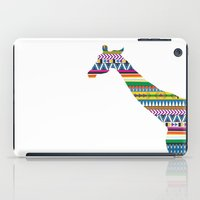 Giraffe with Tribal Pattern iPad Case