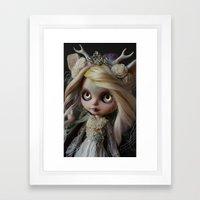 ANCIENT FOREST DEER SPIRIT (Ooak BLYTHE Doll) Framed Art Print