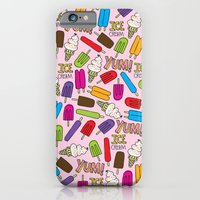 iPhone & iPod Case featuring Ice Cream Doodles by Elizabeth Caldwell