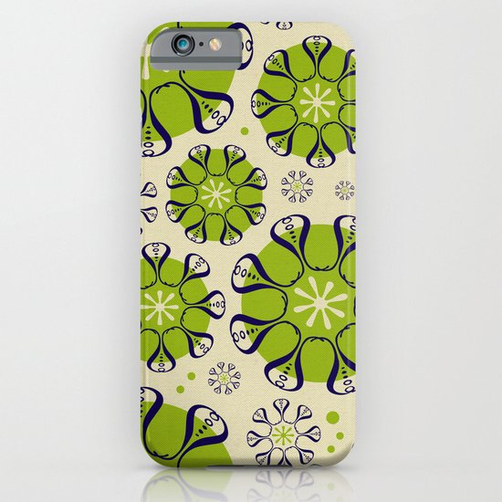 Playful Flower Pattern iPhone & iPod Case