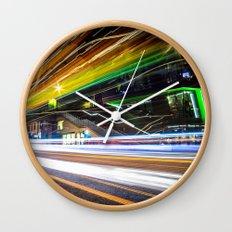Light Trails 1 Wall Clock