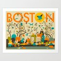 WILD BOSTON Art Print