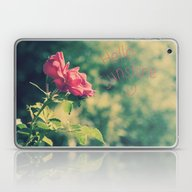 A Pink Rose For You Laptop & iPad Skin