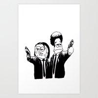Pulp Fiction ( Patrick and Spongebob)  Art Print
