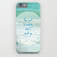 iPhone & iPod Case featuring The Surf is Calling and I Must Go by Shawn King