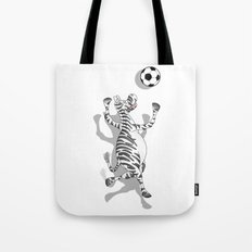 Zebra Football Tote Bag