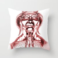 Prayer (Red) Throw Pillow