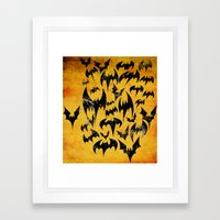 Bats in the Belfry Framed Art Print