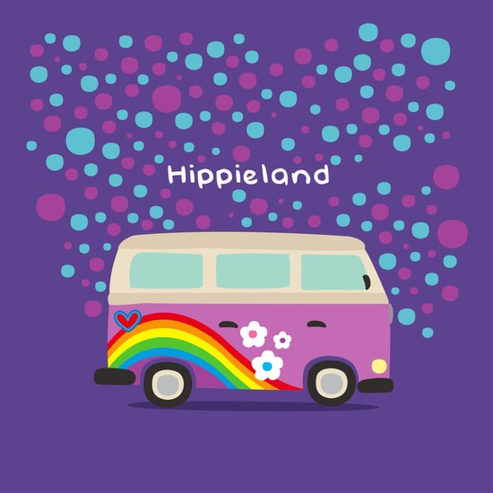 Hippie Land Art Print