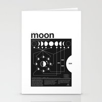 woman Stationery Cards featuring Phases of the Moon infographic by Nick Wiinikka