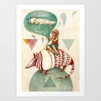 Armadillo's Dream Art Print