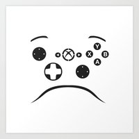Minimalist Xbox Controller Design Art Print