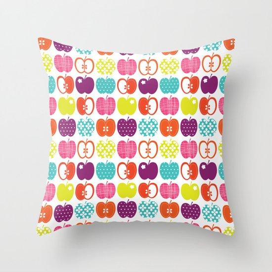Textured Apples Throw Pillow