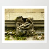 Musician Gargoyle, University of Chicago v.3 Art Print