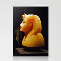 Egyptian canopic bust Stationery Cards