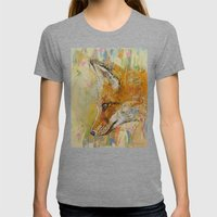 Red Fox Womens Fitted Tee Tri-Grey SMALL