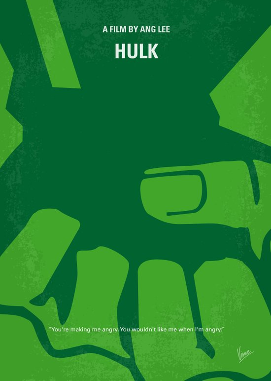 No040 My HULK minimal movie poster Art Print