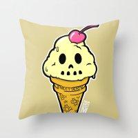 Sweet Death Throw Pillow