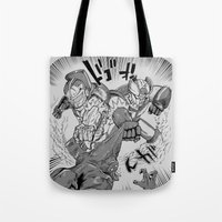 Double Rocket Punch!! Tote Bag