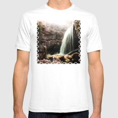 The Forgotten Cascades Mens Fitted Tee White SMALL