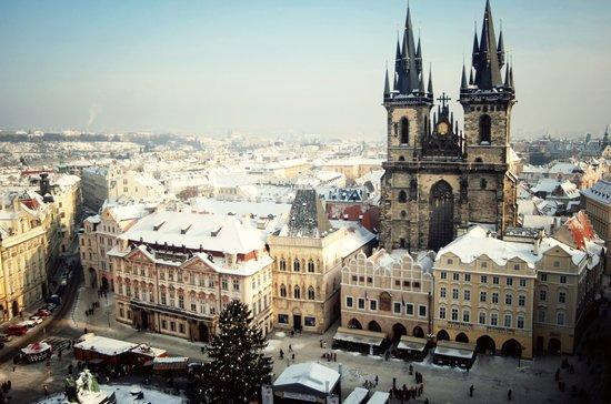 Prague, Czech Republic Christmas Market Art Print
