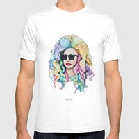 Rocket #9 Mens Fitted Tee White SMALL