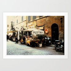 Pizza El Fresco Art Print